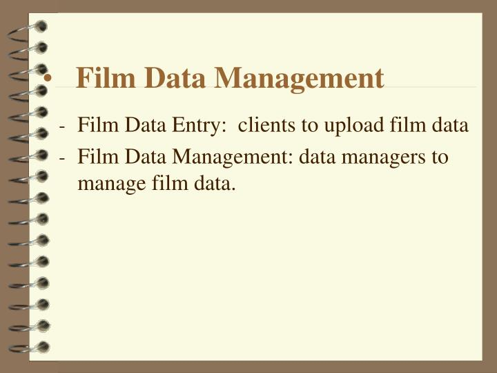 Film Data Management
