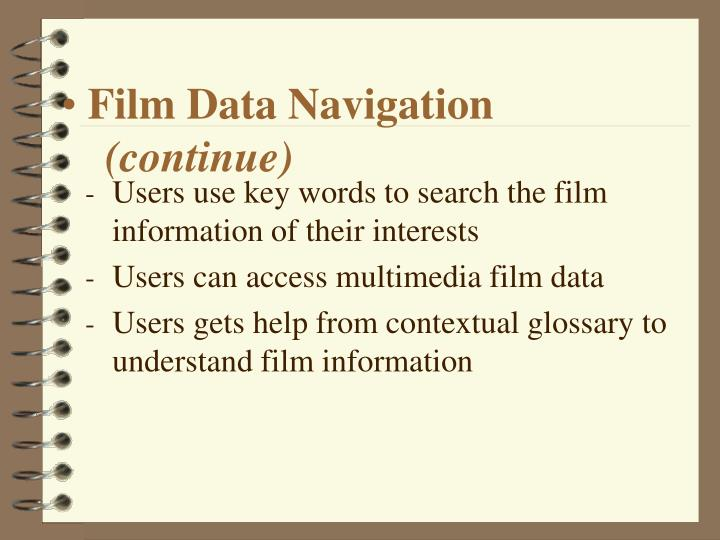 Film Data Navigation