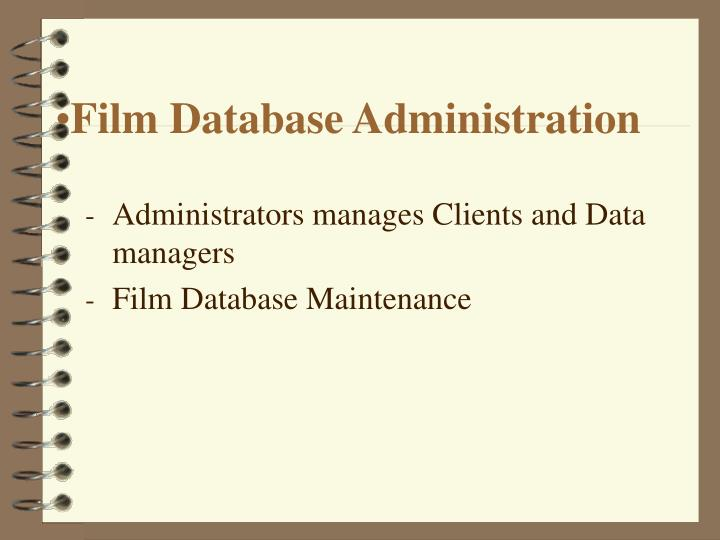 Film Database Administration