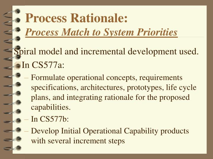 Process Rationale: