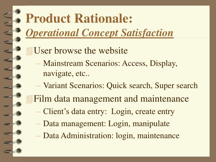 Product Rationale: