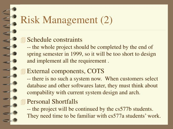 Risk Management (2)