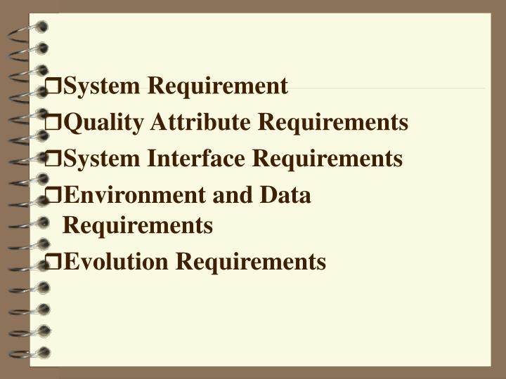 System Requirement
