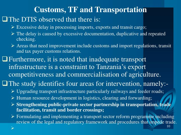 Customs, TF and Transportation