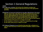 section 1 general regulations8