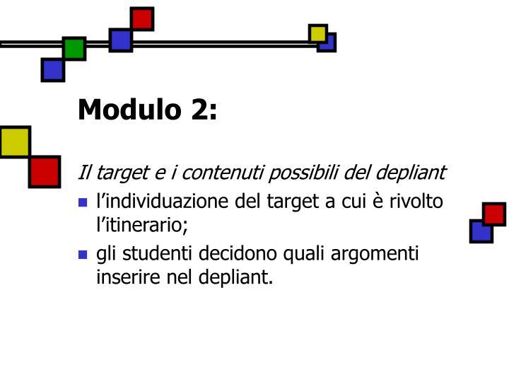 Modulo 2:
