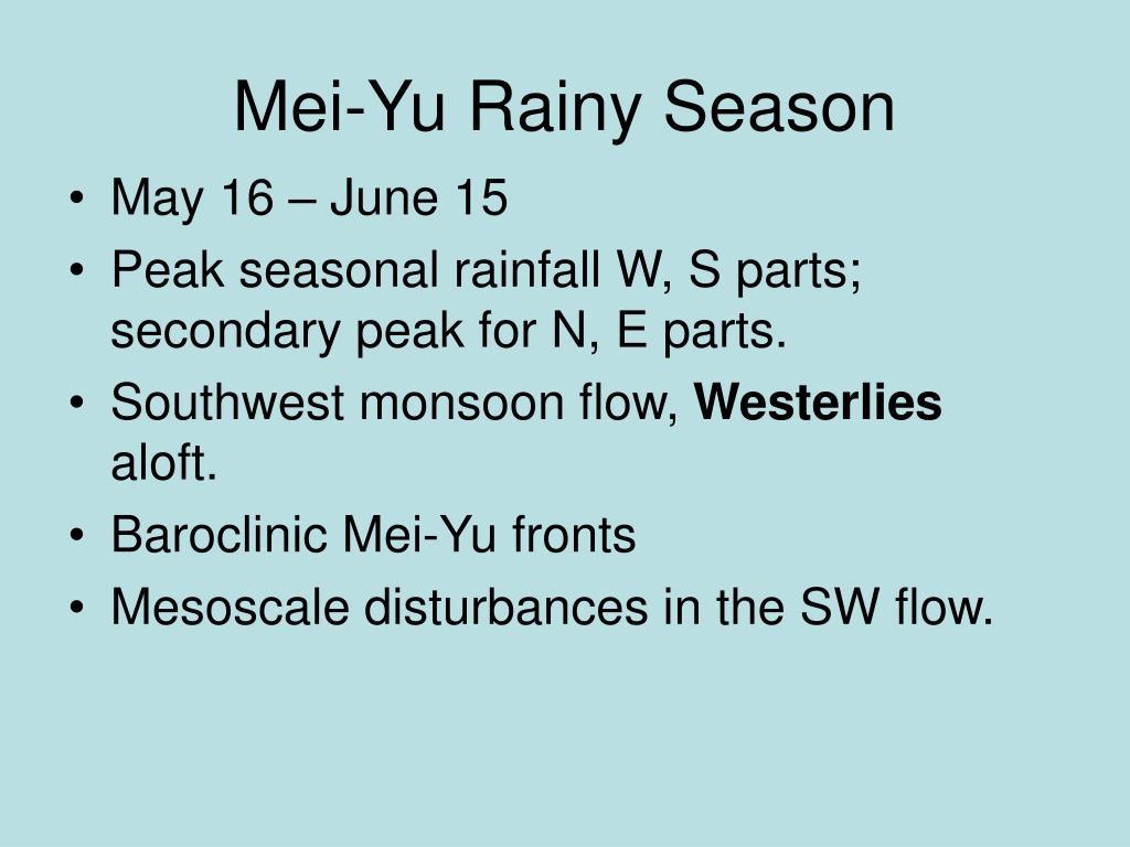 Mei-Yu Rainy Season
