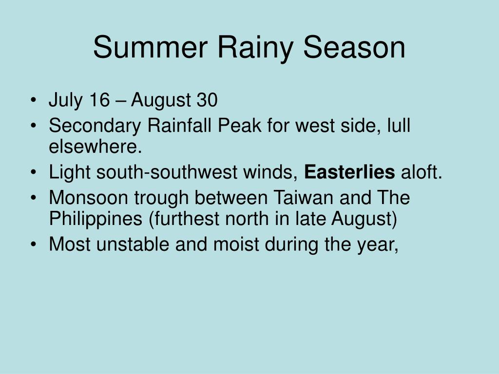 Summer Rainy Season