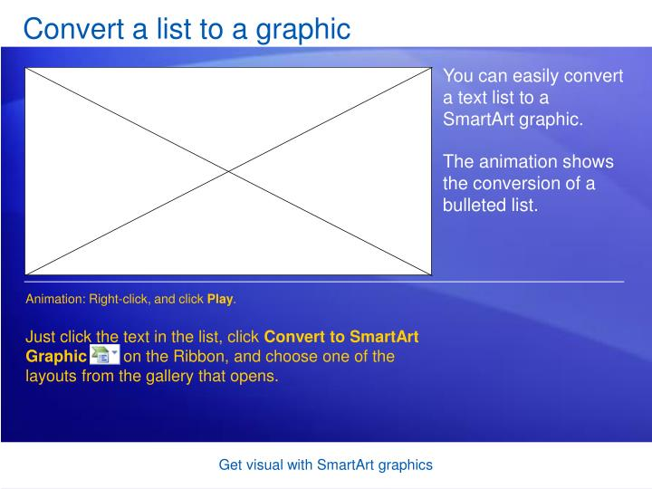 Convert a list to a graphic