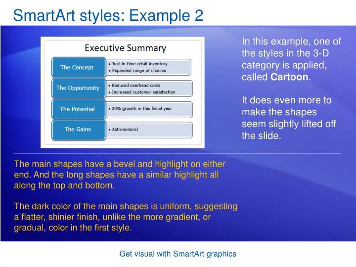SmartArt styles: Example 2