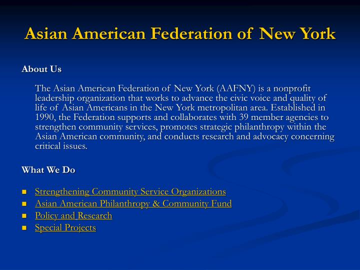 Asian american federation of new york