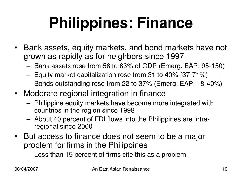 Philippines: Finance
