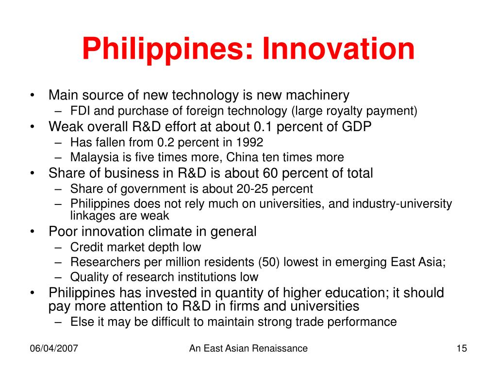 Philippines: Innovation