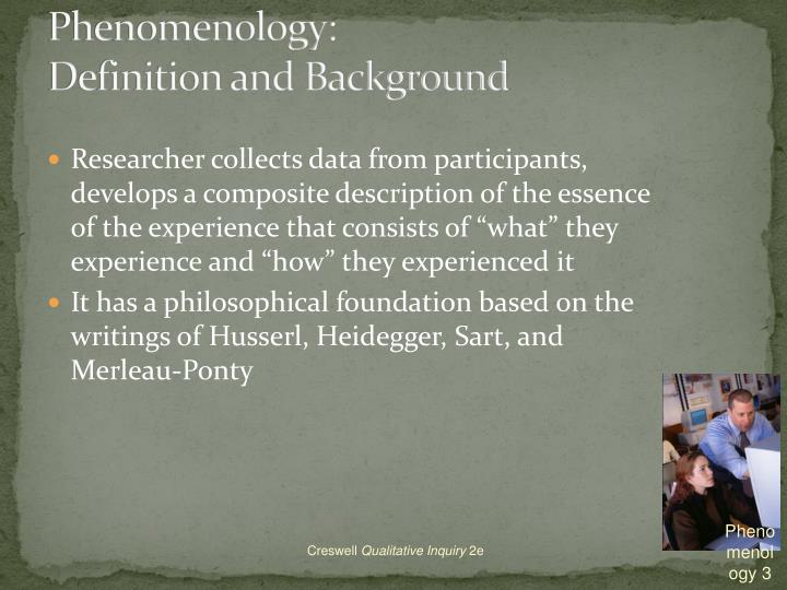 phenomenology essay Phenomenology: phenomenology, a philosophical movement originating in the 20th century, the primary objective of which is the direct investigation and description of.