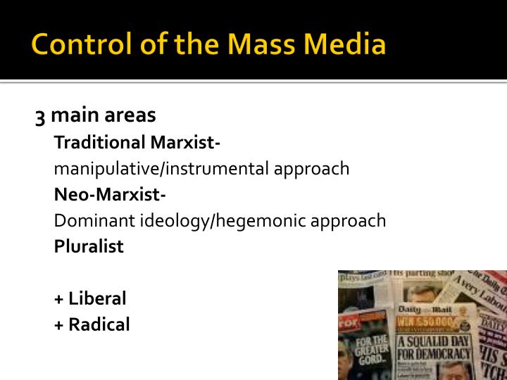 mass media control Mass media and tobacco control the use of mass media for tobacco control increased in developed countries in the 1990s, particularly in the united states, canada, australia, and the.