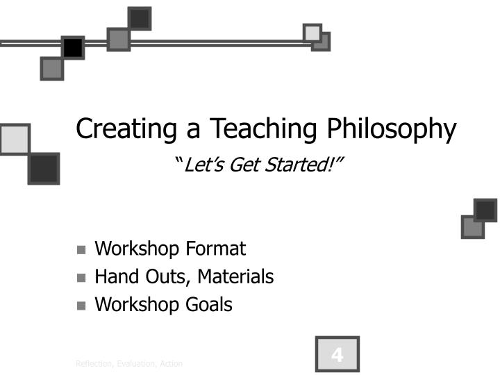Creating a Teaching Philosophy