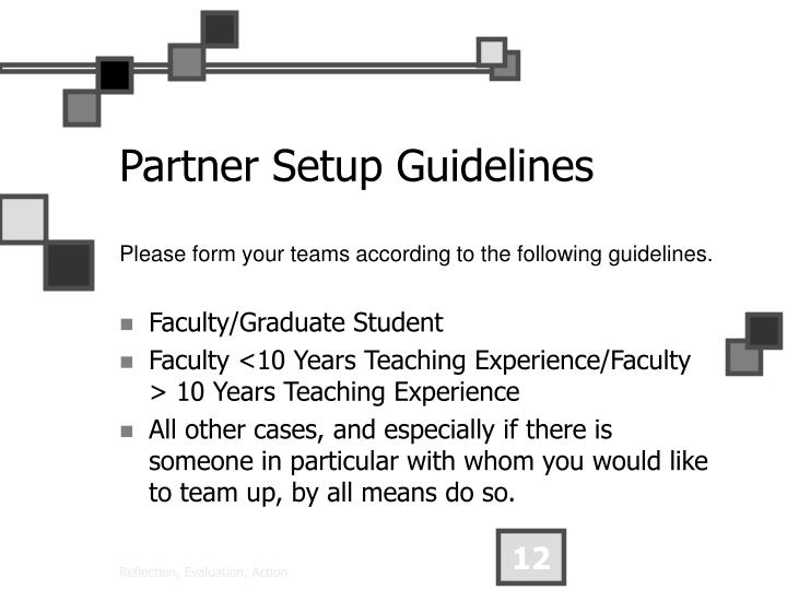 Partner Setup Guidelines