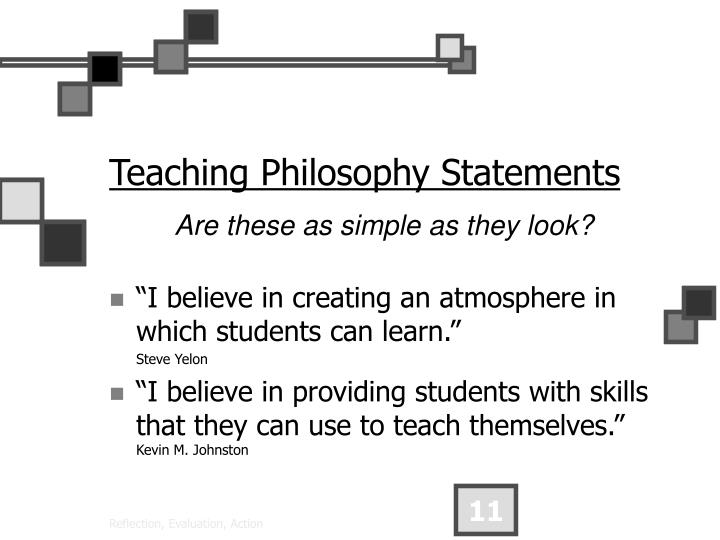 Teaching Philosophy Statements