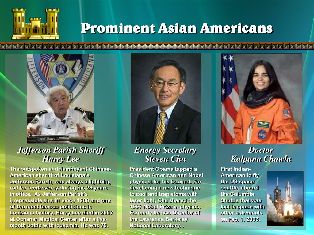 Prominent Asian Americans