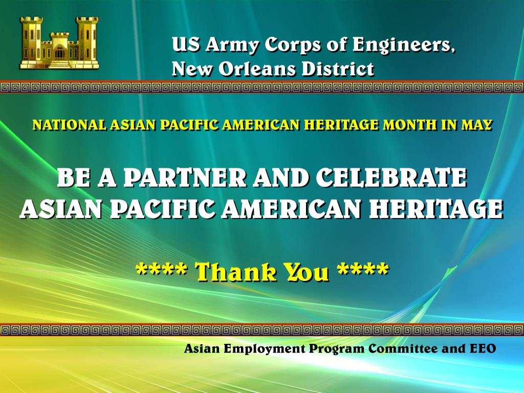 US Army Corps of Engineers,                     New Orleans District