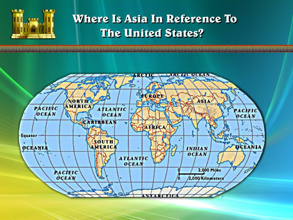 Where Is Asia In Reference To