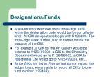 designations funds4