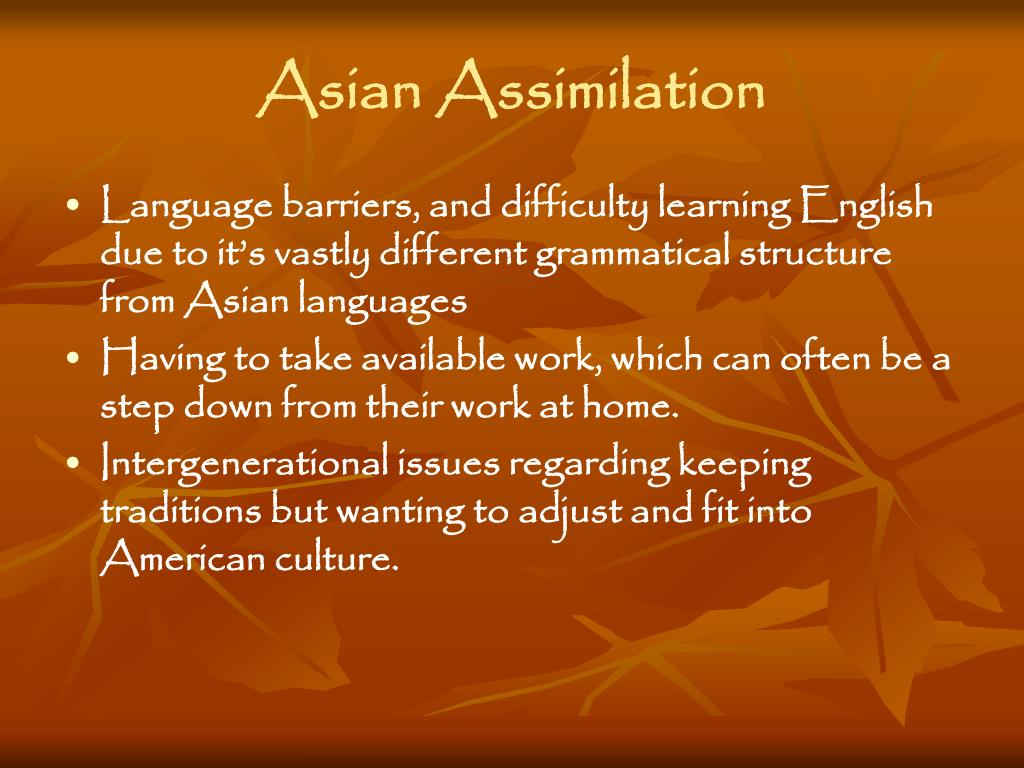 Asian Assimilation