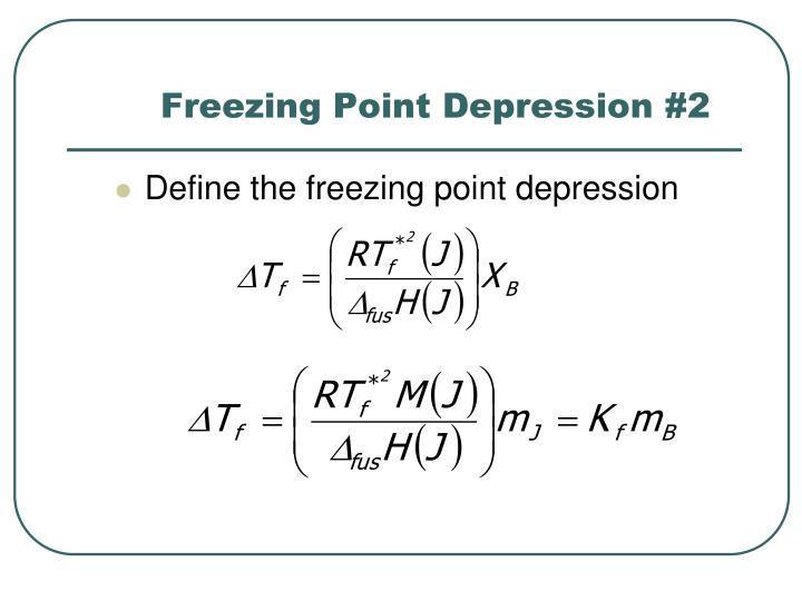 Freezing Point Depression #2
