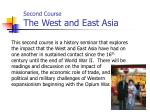 second course the west and east asia