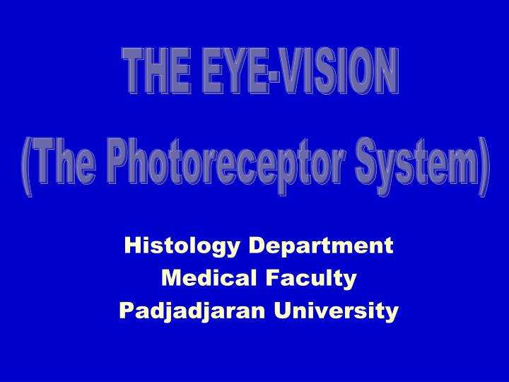 Histology department medical faculty padjadjaran university