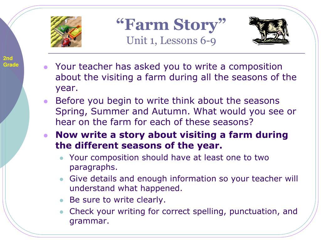 farm story unit 1 lessons 6 9