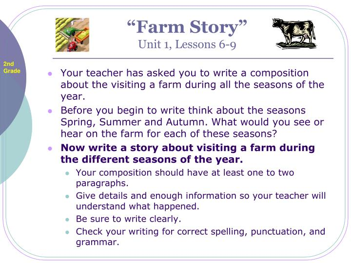 Farm story unit 1 lessons 6 9