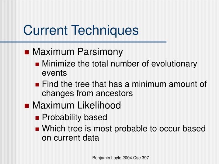 Current Techniques