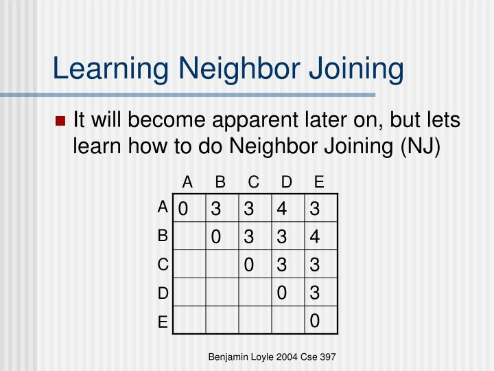 Learning Neighbor Joining