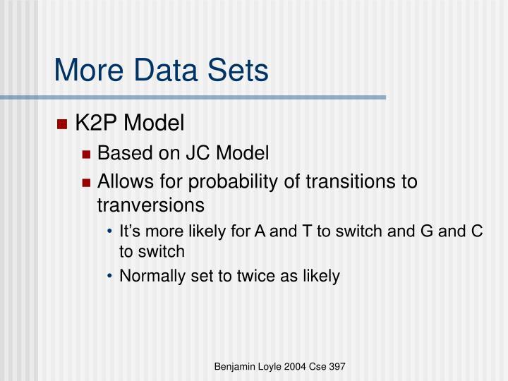 More Data Sets