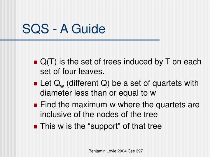 SQS - A Guide