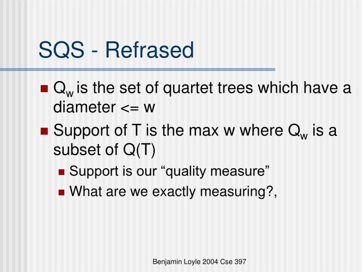 SQS - Refrased