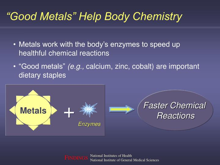 """Good Metals"" Help Body Chemistry"