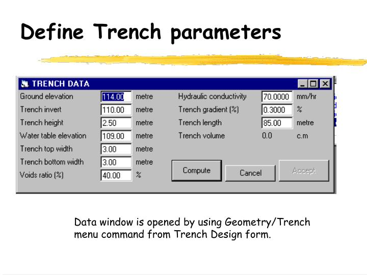 Ppt - Exfiltration Trench Powerpoint Presentation