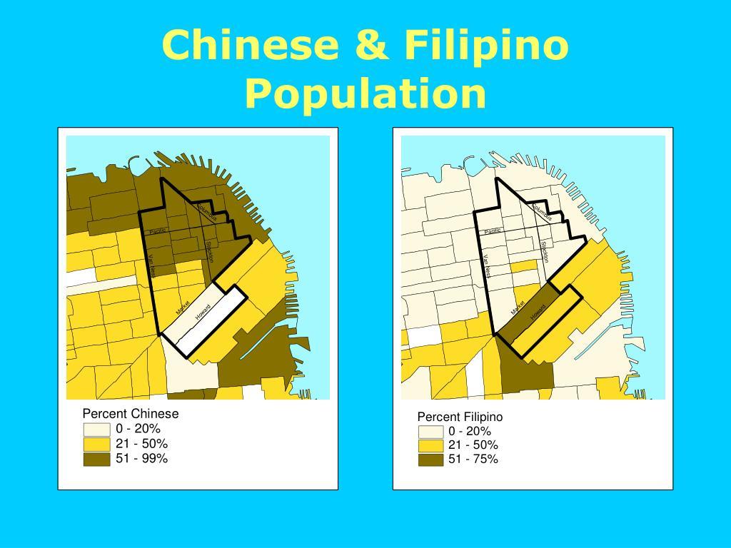Chinese & Filipino Population