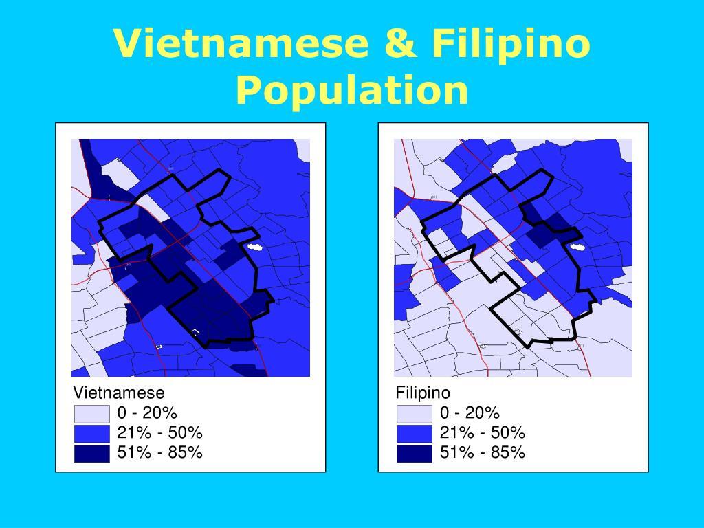 Vietnamese & Filipino Population