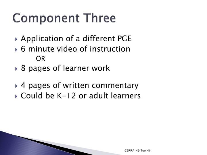 Component Three