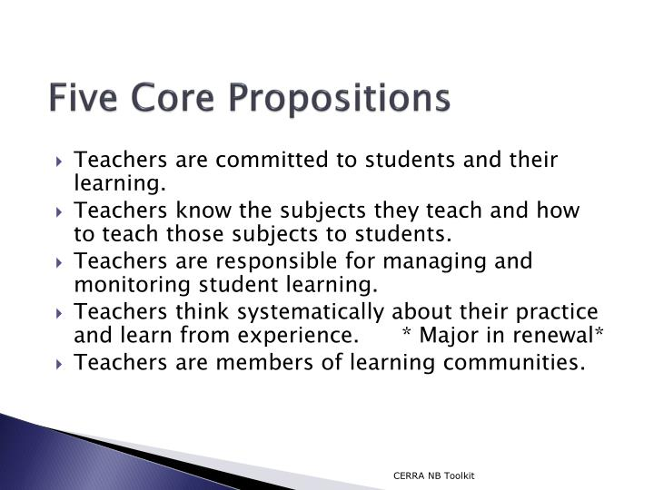 Five Core Propositions