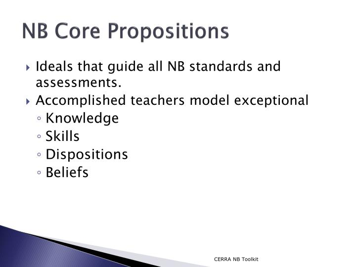 NB Core Propositions
