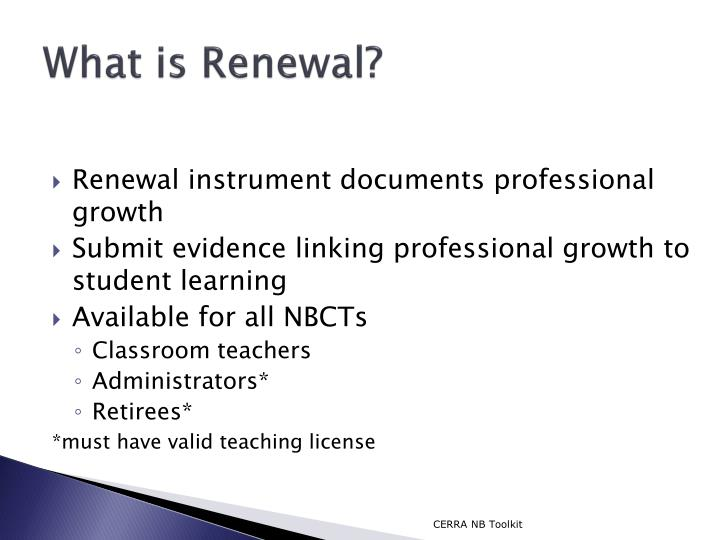 What is Renewal?