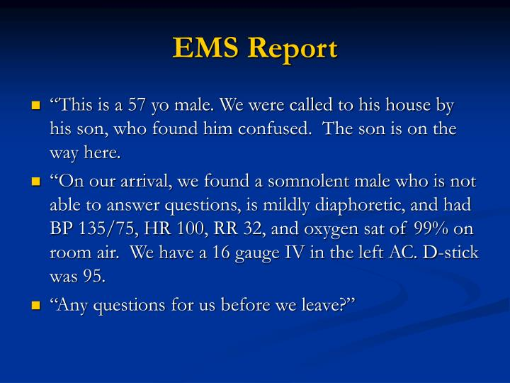 EMS Report