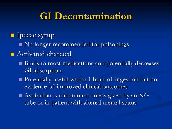GI Decontamination