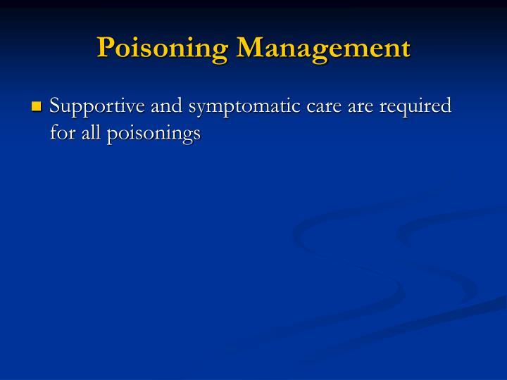 Poisoning Management