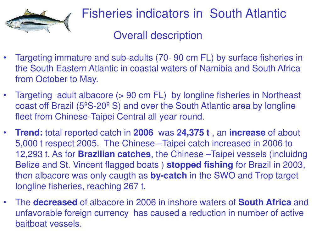 Fisheries indicators in  South Atlantic