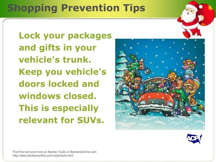Shopping Prevention Tips